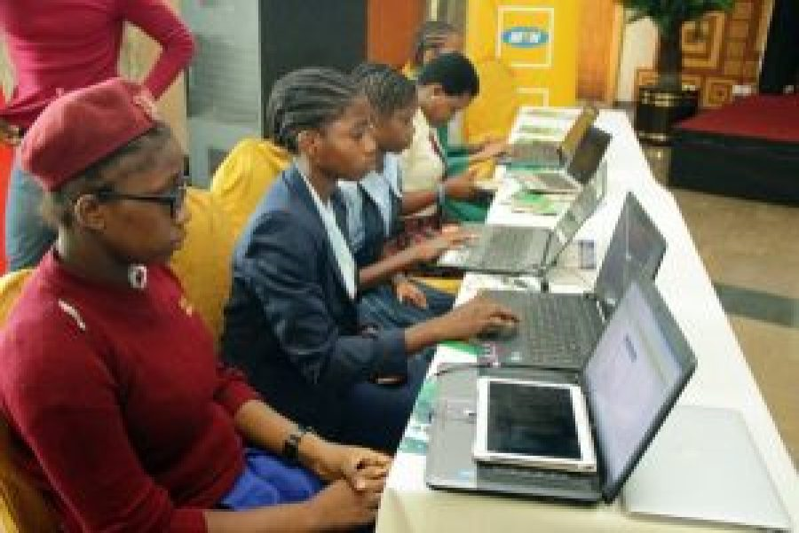 Cross section of students at the Girls in ICT 2016 event in Lagos