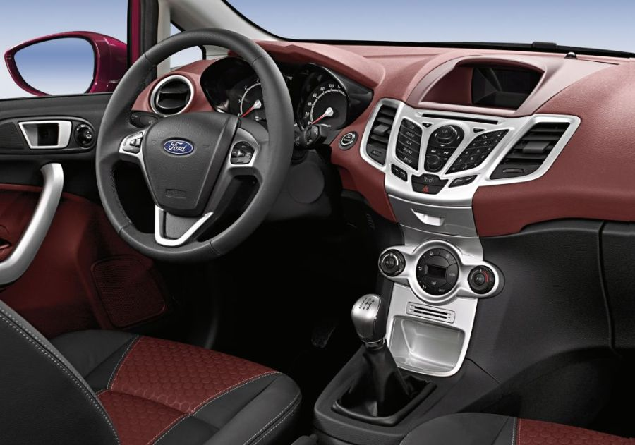 Interior of Ford Fiesta sport utility vehicle (SUV)