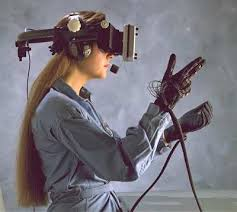 VR headset with gloves as sensors