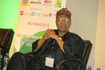 Technology Times Photo showing Alhaji Lai Mohammed, Minister of Information&Culture at an event in Lagos
