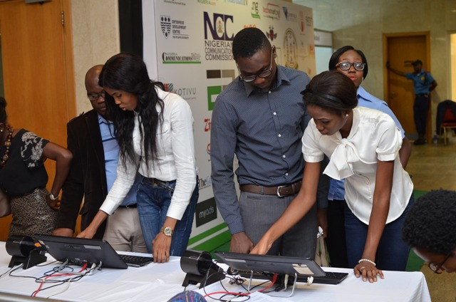 Participants registering at the event
