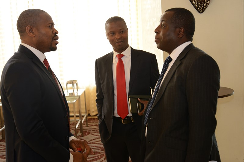 Kazeem Ladipo of MainOne (left); Ajibola Olude, Executive Secretary of ATCON and Olusola Teniola, President of ATCOON at the GITTA 2016 in Ghana