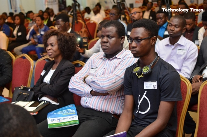 Cross section of Nigerian youth at an event