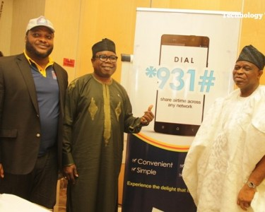 Nnamdi Nwoye, Partner, Credit Switch, Adejuwon Akinfolurin, Director, Credit Switch and Ope Badamosi, Chairman, Credit Switch, at the unveil of the code for mobile credit transfer (1)