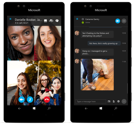 Skype for window 10 mobile, now allows group video calls