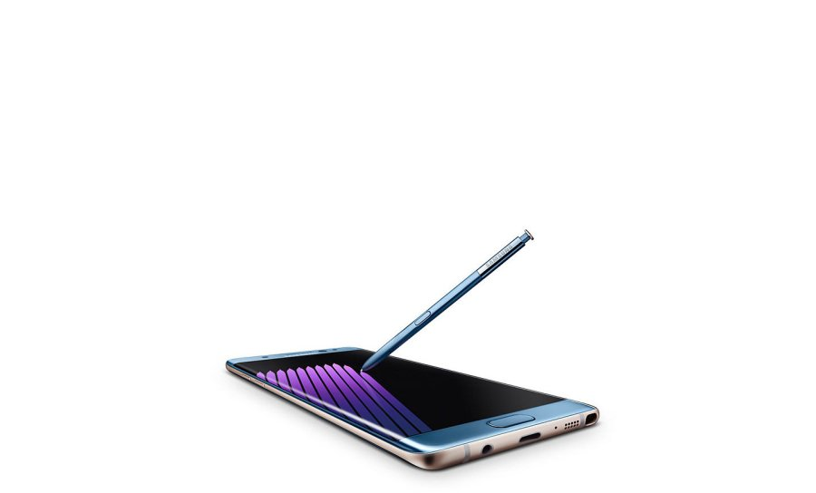 Image of Samsung Galaxy Note 7 with S Pen stylus