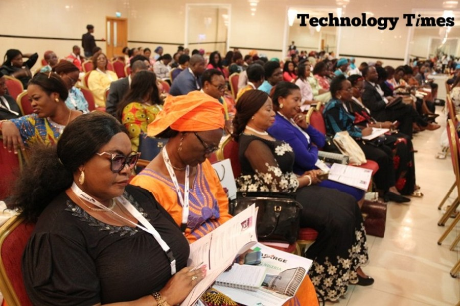 Technology Times photo shows cross section of women looking at the Africa Women Innovation and Entrepreneurship Forum (AWIEF 2016) held last week in Lagos.