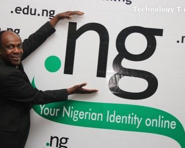 Sunday Folayan, President of Nigeria Internet Registration Association of Nigeria (NIRA) seen at a display of Nigeria's .ng Internet domain name in Lagos