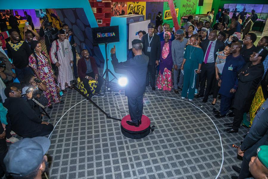 Professor Yemi Osinbajo, Vice President, Nigeria, seen middle in photo at The Google Nigeria Event