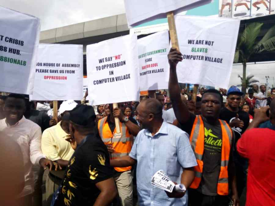 , Protest erupts at Computer Village over plans 'to impose Iyaloja', Technology Times