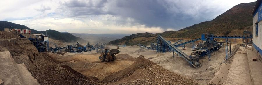 """File photo shows a mining site. Nigerian government says it wants to obtain a comprehensive Geoscience information data """"which will take the mining industry to the next level."""""""