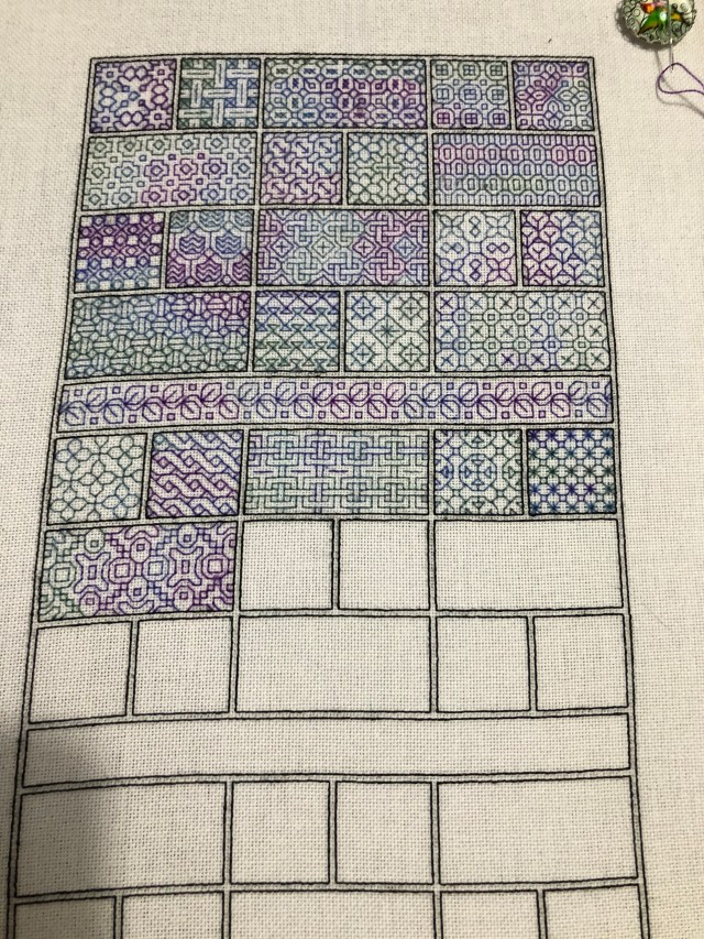 Peppermint Purple Stitch-a-long 2020, Week 25