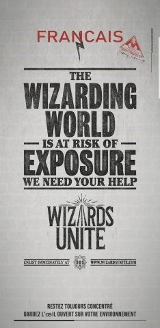 L'affiche du jeu Harry Potter Wizards Unite
