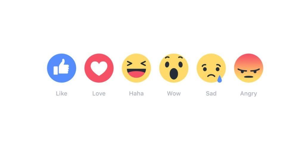 Les cinq émojis classiques de Facebook