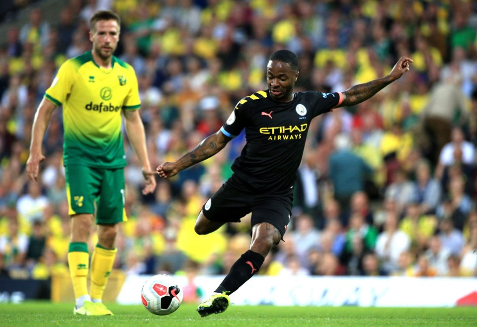 Raheem Sterling lors du match perdu contre Norwich City (3-2) le samedi 14 septembre 2019