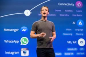 Mark Zuckerberg, lors d'une présentation en décembre 2016.