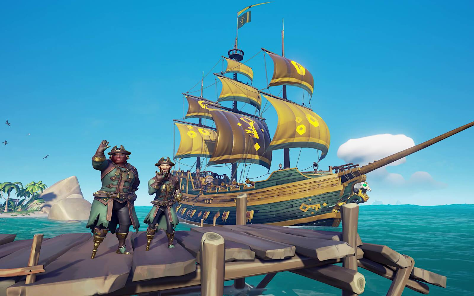 Disponible via Xbox One et Windows depuis le mois de mars 2018, Sea of Thieves arrive sur Steam le 3 juin 2020.