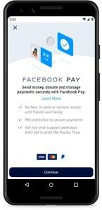 Un Iphone affichant une transaction sur Facebook Pay.