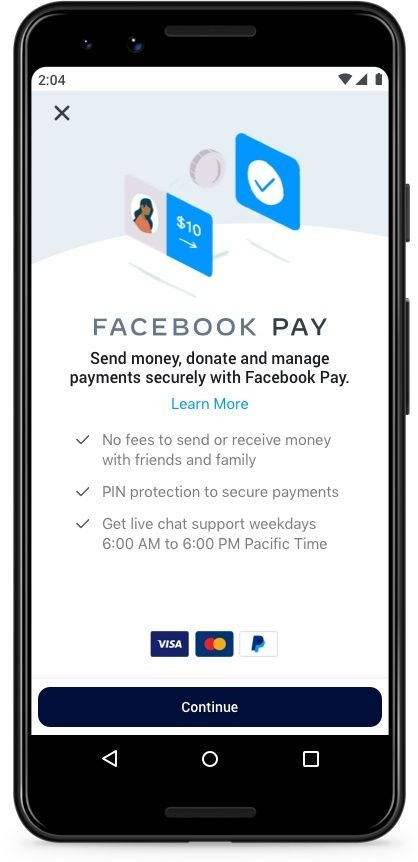 Un Iphone affichant une transaction sur Facebook Pay.