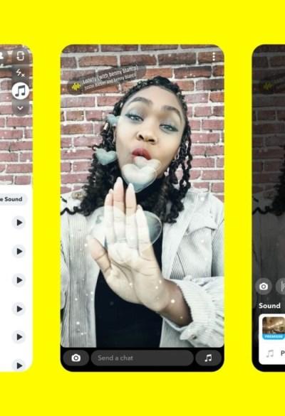 Snapchat: début de Sounds, une nouvelle fonctionnalité pour concurrencer TikTok