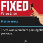 FIX THERE IS A  PROBLEM PARSING THE PACKAGE ERROR