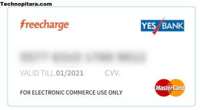 virtual credit card freecharge