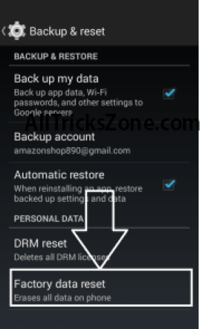 Android Id changer factory reset