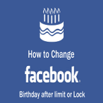 How can I change my date of birth on Facebook?