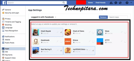 How to Delete third-party apps from facebook at once