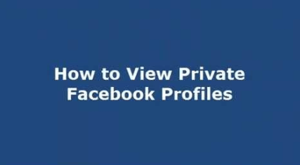 How To View Private Facebook Photos Without Being a Friend