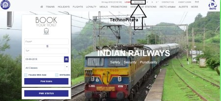 Register your account on IRCTC