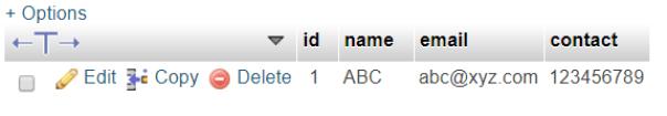 php mysql database update