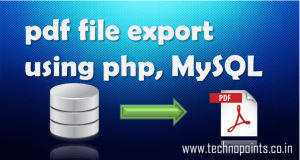 pdf file generation using php, mysql database