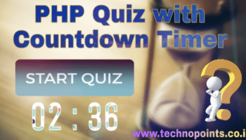 Create Simple Quiz Web application using PHP and MySQL - Technopoints