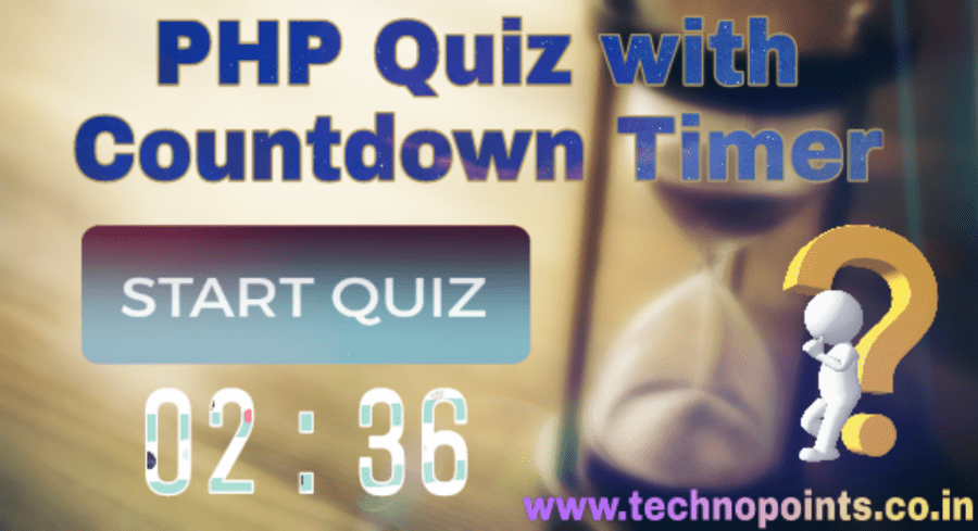 PHP Quiz with Countdown Timer