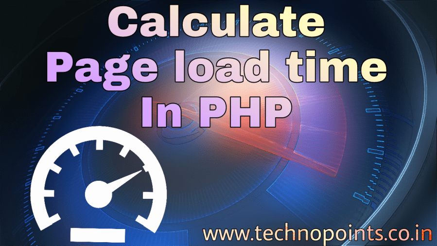 Calculate Page Load Time in PHP