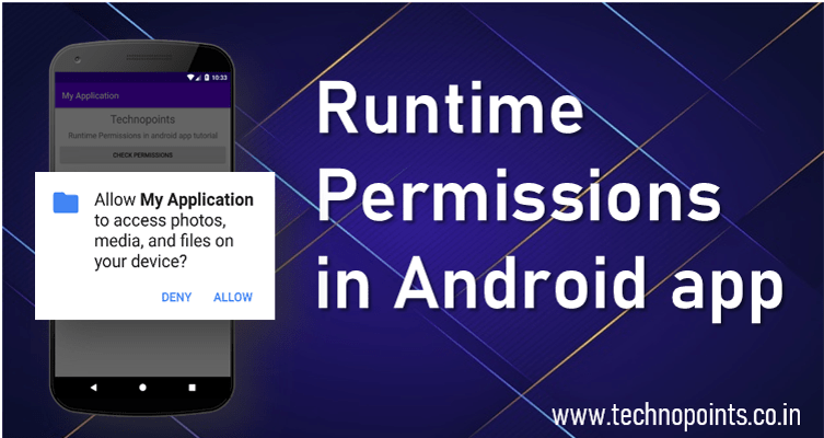 Runtime Permissions in Android app
