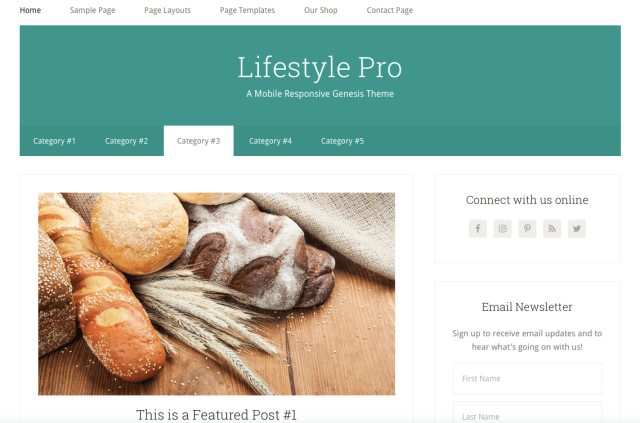 Lifestyle Genesis Child Theme by Studiopress