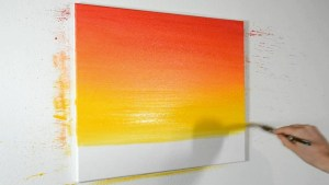 Ombre Canvas Painting Idea for beginners