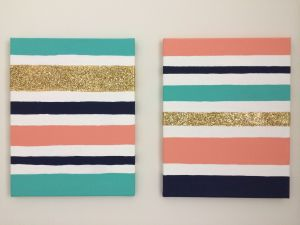 Striped Canvas Painting Idea for Beginners