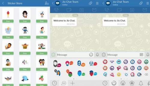 JioChat Stickers and Emojis feature