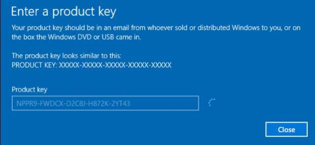 Windows activation key to upgrade Windows 10 from Windows 7/8