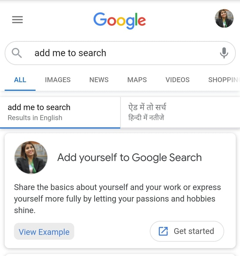 add me to search- How to create Google Search Card