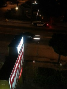 Motel at night