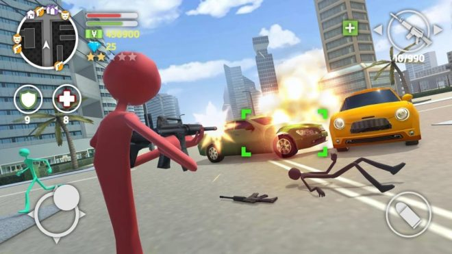 Grand Stickman Auto V For PC and Android
