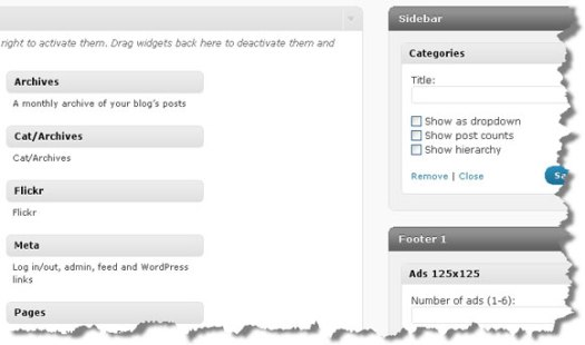 WordPress 2.8: New Widgets Page