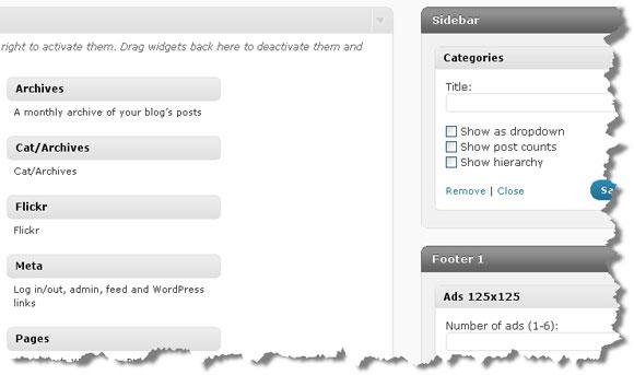 WordPress 2.8: New Widgets Page