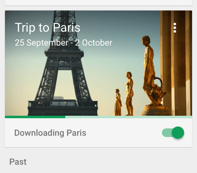 Downloading Paris Trip