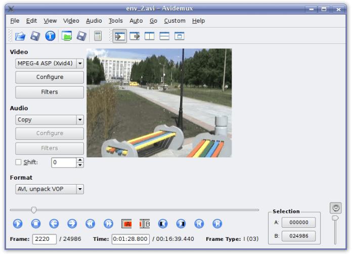 avidemux free video editor
