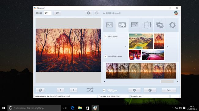 Vintager photo editing software